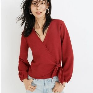 NEW Madewell texture & thread crepe wrap top